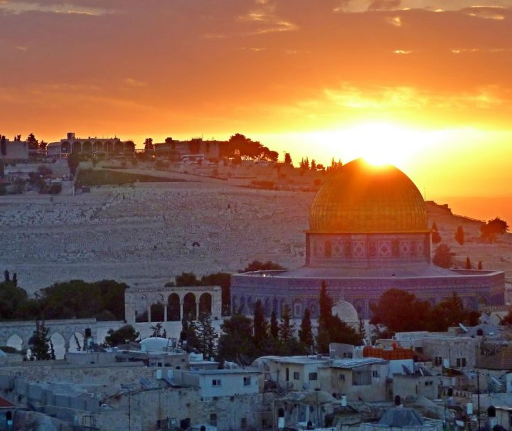 panoramic sunrise view in Jerusalem Israel. Image for Africa One Tours and Travel