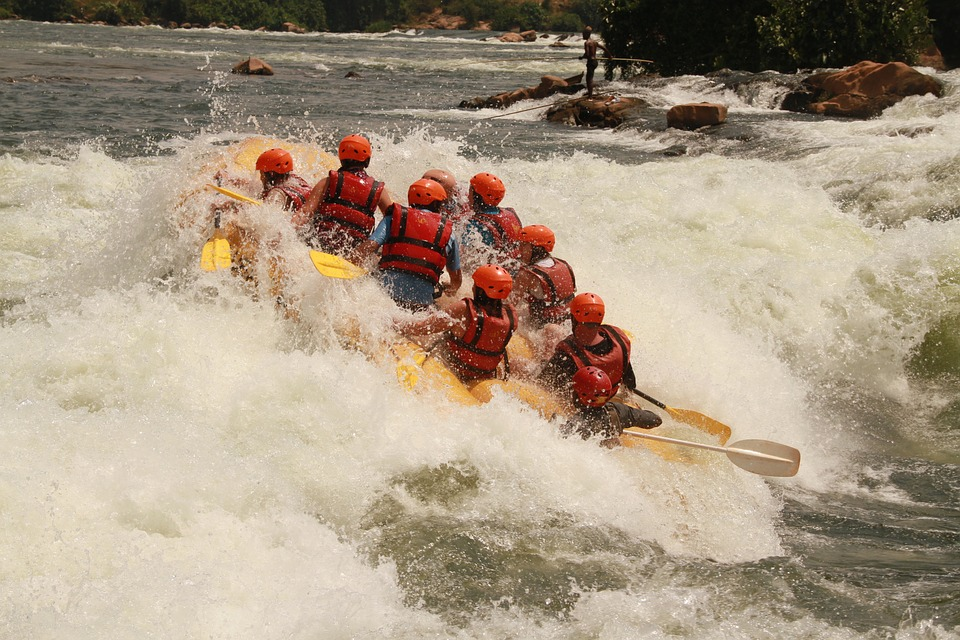 white water rafting on River Nile in Uganda