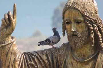 Jesus'statue in Israel. Africa One Tours and Travels