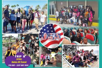 2020 USA Student's Tour with Africa One Tours and Travels Ltd